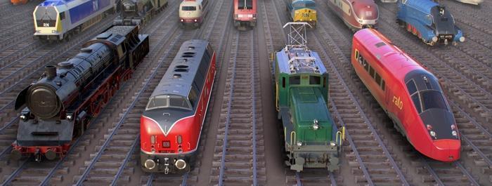 Эпохи в Rail Nation - сравнение поездов