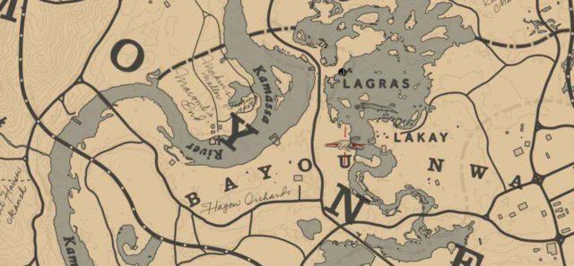 Легендарный аллигатор на карте