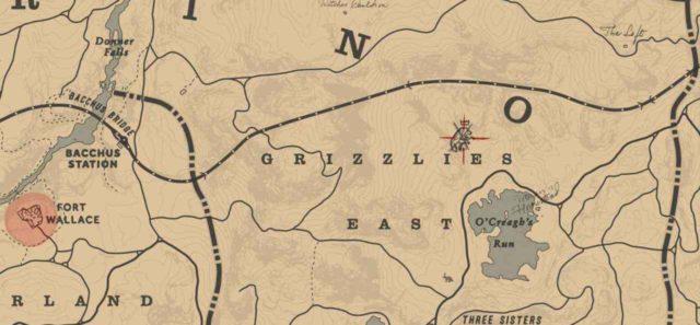 Легендарный гризли на карте