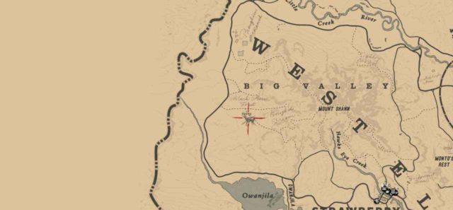 Легендарный олень на карте