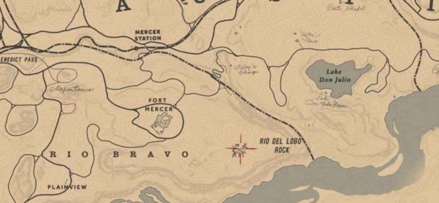 Легендарный вилорог на карте