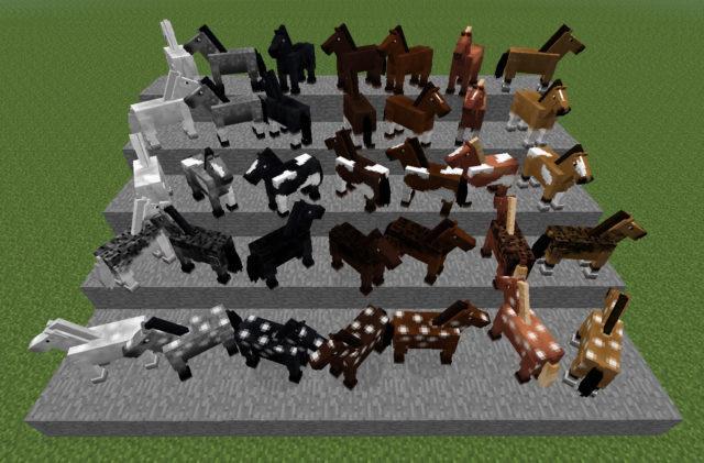 35 разновидностей лошадей в Майнкрафте
